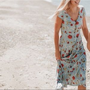 Urban outfitters button down midi dress floral